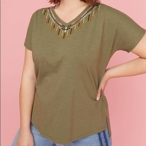 Lane Bryant embellished tee